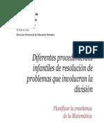 6- Diferentes Procedimientos Infantiles de Resolución de Problemas Que Involucran La División