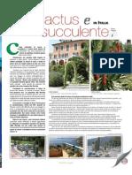 Primi giardini di cactus e succulente in Italia