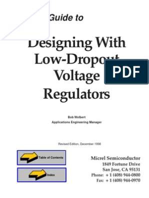 Designing with low dropout voltage regulator pdf | Power