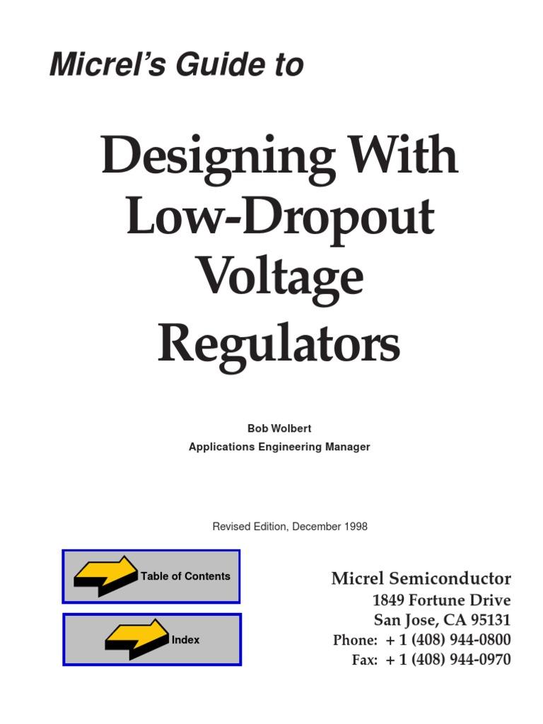Designing with low dropout voltage regulator.pdf | Power Supply | Bipolar  Junction Transistor