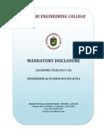 Mandatory Disclosuresengg&Tech 2013-14