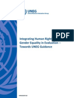 "UNEG Handbook ""Integrating Human Rights and Gender Equality in Evaluation"