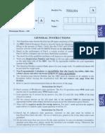 Physics Paper IIT JAM 2014