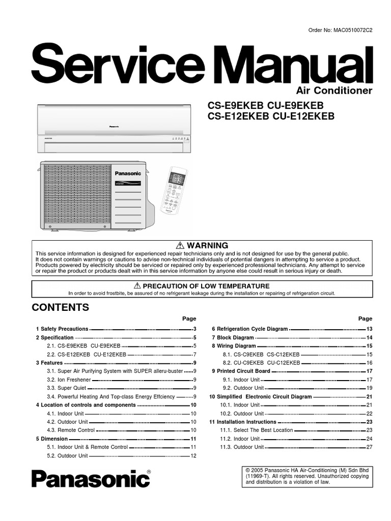Panasonic Air Conditioner Wiring Diagram Schematic Diagrams Trusted Heat And Conditioning Window Unit