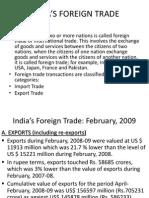 Saravanan India's Foreign Trade