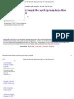 Pengertian Fiber Optik Fungsi Fiber Optik Prinsip Kerja Fiber Optik Jenis Fiber Optik _ Teknologi Informasi