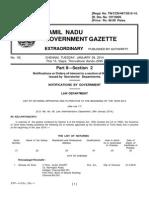 Tamil Nadu Government - Notaries - 2014