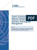 Impact Evaluations in UN Agency Evaluation Systems - Guidance on Selection, Planning and Management