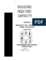Building NGO/CBO Capacity through Managing and Developing Human Resources – Part 2 Concepts and Strategies