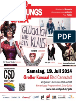 Programmheft zur Eröffnungsgala des CSD Stuttgart 2014