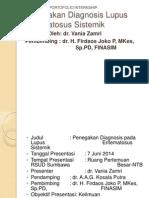 Penegakan Diagnosis Lupus Eritematosus Sistemik