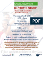 APHEDA Trivia Night