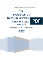 TdR Licitacion Emprendimiento Social Andalucia
