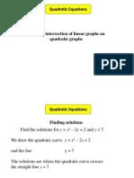 Quadratic Graphs 3