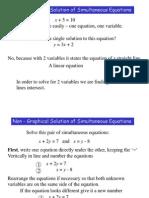 Simultaneous Equations Algebraic