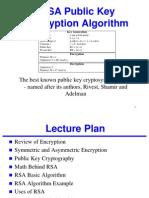 RSA Public Key Encryption Algorithm