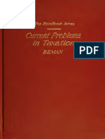 Current Problems in Taxation