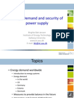 Energy Demand and Security of Power Supply 2013