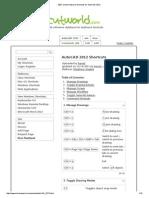 200+ useful Keyboard Shortcuts for AutoCAD 2012