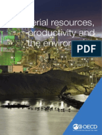 Material resources, productivity and the environment