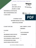 SDTX 2014-7-14 ECF 1 Taitz v Johnson Et Al - Complaint - S.D.tex._1-14-Cv-00119_1 (1)