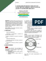 Informe Del Generador Sincronico Trifasico en Caracteristicas de Circuito Abierto y Regulacion de Voltaje de Un Generador Trifasico
