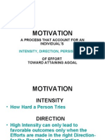 A Process That Account for an Individual's Intensity, Direction, Persistence