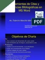 Uso de Herramientas de Citas y Referencias Bibliograficas en MSWord