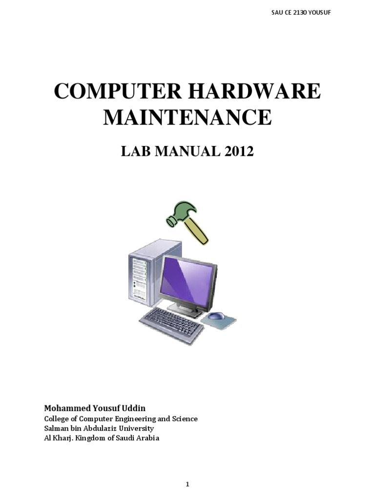 cm lab manual bios central processing unit rh scribd com computer hardware and maintenance lab manual Computer Lab Design