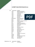 Àbap Workflow Tcodes