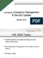 Faculty Senate Campus Security Update 100411.ppt