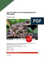 IUCN's Red List Amphi Nov 09