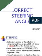Correct Steering Angle