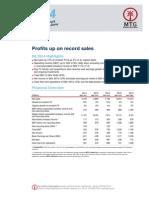 Hospodářské výsledky MTG za 2. čtvrtletí 2014