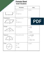 9e FormulaSheet Acad 2013