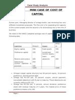 Case of Cost of Capital - Prasannachandra