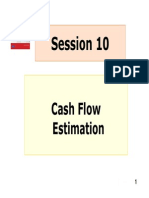 Session 10 Cash Flow Esimation