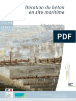 Altération Du Béton en Site Maritime