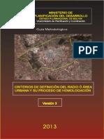 Guía Metodológica. Criterios de Definición Del Radio o Área Urbana y Su Proceso de Homologación