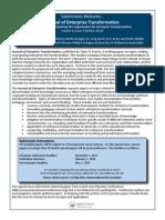 Journal of Enterprise Transformation Issue 4