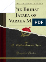 The Brihat Jataka of Varaha Mihira 1000002375