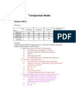 Transportasi Model