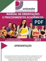 Manual de Orientações e Procedimentos Acadêmicos