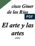 Francisco Giner de Los Rios - El Arte y Las Artes - V1.0