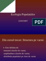 Ecologia Populatiilor Curs4 Marimea Dinamica Populatiei GS 2007