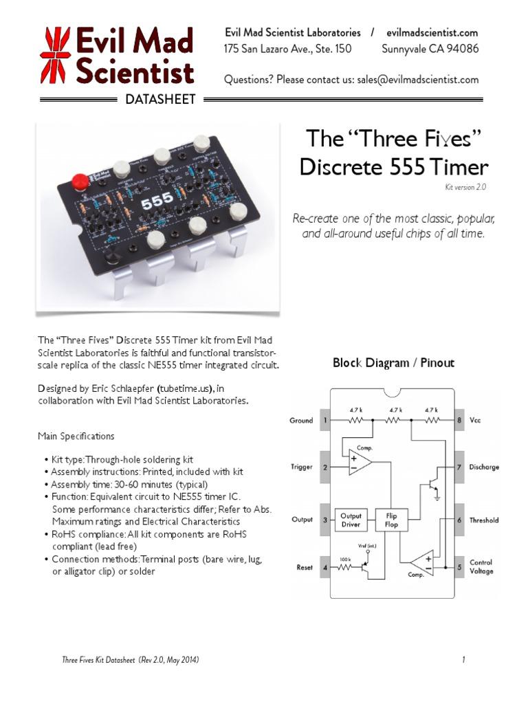 555 Datasheet Revb Printed Circuit Board Electronic Circuits 2n3904 Pdf Pinouts Philips