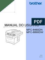Mfc8480dn Mfc8890dw Manual Usuário