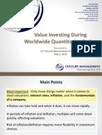 Van Den Berg Value Investor Conference May 2014
