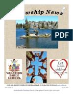 July 15, 2014 The Fellowship News