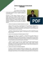 Entrevista Al Decano de La Facultad de Ingenieria